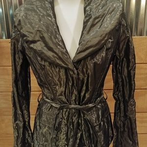 Cache Gray crinkle jacket.